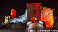 Deutschland Illuminierte Wartburg in Eisenach