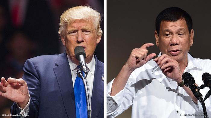 Bild-Kombo Donald Trump Roger Duterte