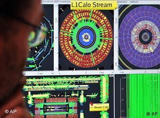 'Large Hadron Collider' em ação