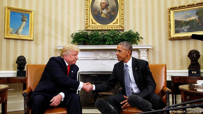 USA Washington Treffen Obama und Amtsnachfolger Trump (Reuters/K. Lamarque)