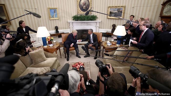 USA | Washington Treffen Obama und Amtsnachfolger Trump