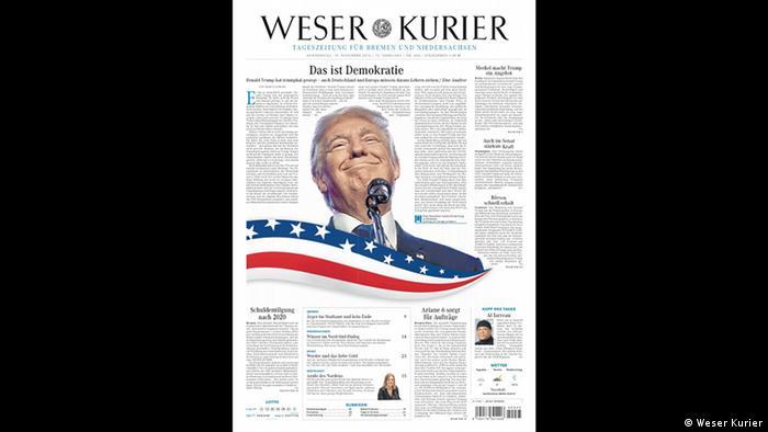 Screenshot Titelblatt Weser Kurier (Weser Kurier)