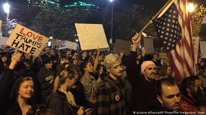 Protesto contra Donald Trump em Portland