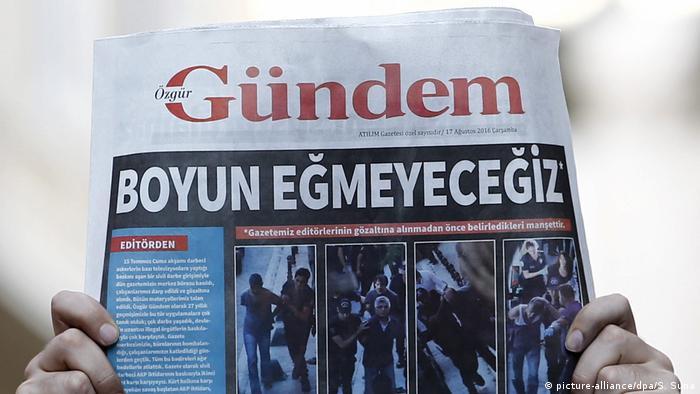 Özgür Gündem gazetesinin eski bir nüshası
