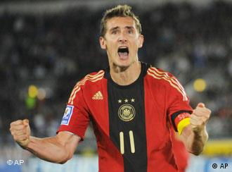 German striker Miroslav Klose