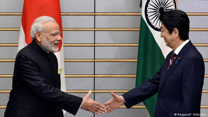 Indian PM Narendra Modi and Japanese PM Shinzo Abe