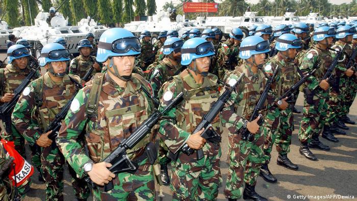 Membantu misi perdamaian PBB di Libanon