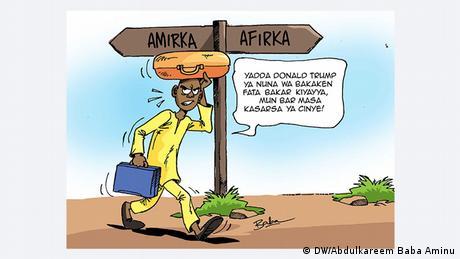 Trump cartoon by Nigerian artist (DW/Abdulkareem Baba Aminu)