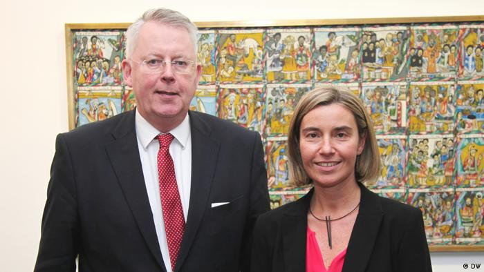 Mogherini with DW's Director General Peter Limbourg