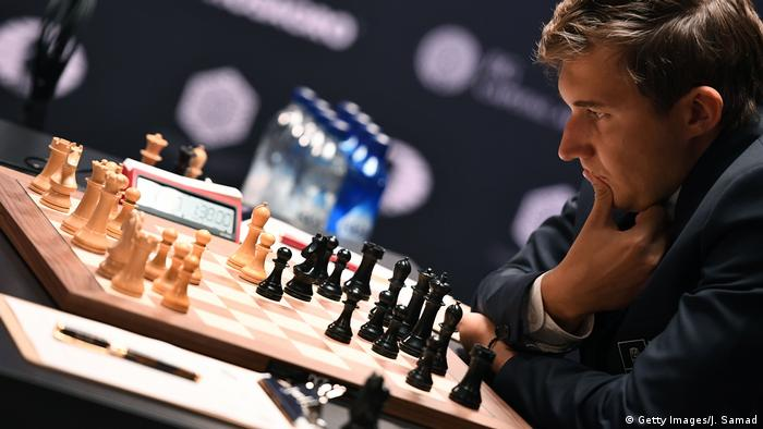 USA New York Schachweltmeisterschaft Partie 1 Remis 2016 World Chess Championship - November 11 (Getty Images/J. Samad)