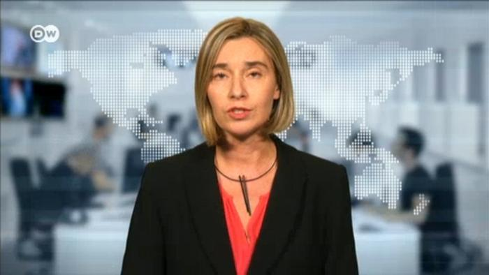 Screenshot Video Interview Federica Mogherini mit der DW