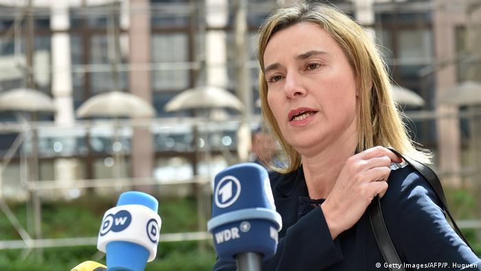 Belgien Büssel Federica Mogherini (Getty Images/AFP/P. Huguen)