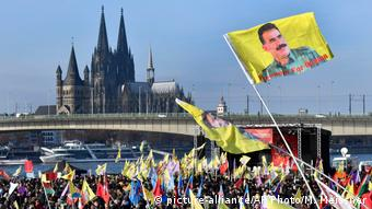In Cologne last November, a demonstration was held in support of detained PKK leader Ocalan and against the security clampdown in Turkey following the July 2016 failed coup.