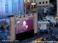 Bonn: concertos no telão em praça pública