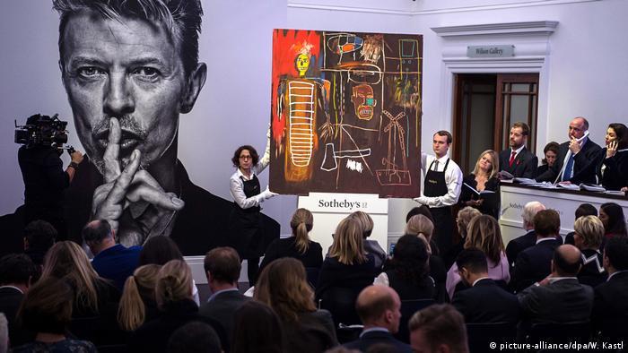 Basquiat en la colección privada de David Bowie, en Sotheby's. (2016).