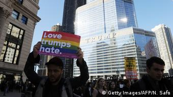 Anti-Trump-Proteste in Chicago (Getty Images/AFP/N. Safo)