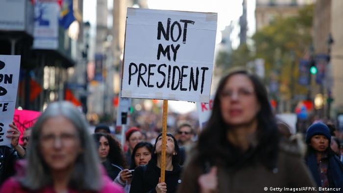 USA Anti-Trump-Proteste in New York (Getty Images/AFP/K. Betancur)