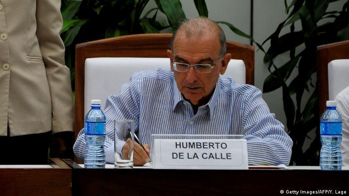 Kuba Friedensabkommen Kolumbien FARC Unterzeichnung in Havanna (Getty Images/AFP/Y. Lage)
