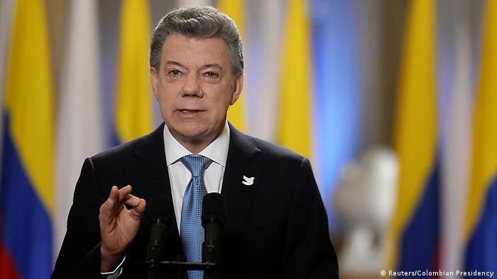 Kolumbien Präsident Juan Manuel Santos Rede in Bogota (Reuters/Colombian Presidency)