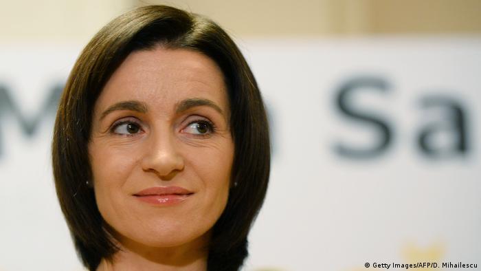 Moldawien Präsidentschaftswahl Kandidatin Maia Sandu (Getty Images/AFP/D. Mihailescu)