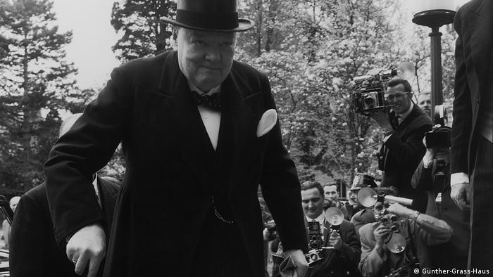 Winston Churchill in 1956 (Günther-Grass-Haus)