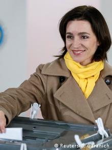 Moldawien Präsidentschaftswahl Kandidatin Maia Sandu