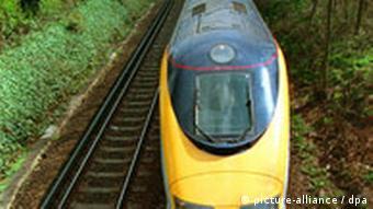 A Eurostar passenger train