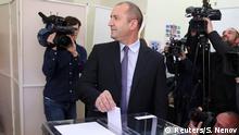 Bulgarien Präsidentschaftswahlen Rumen Radew in Sofia