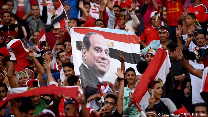 Apoiadores de Abdel Fattah al-Sissi