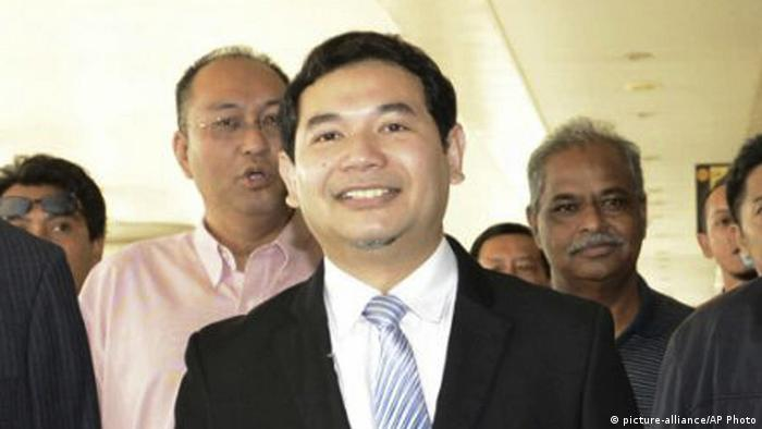 Malaysian opposition leader Rafizi Ramli arrives at a court in Kuala Lumpur.