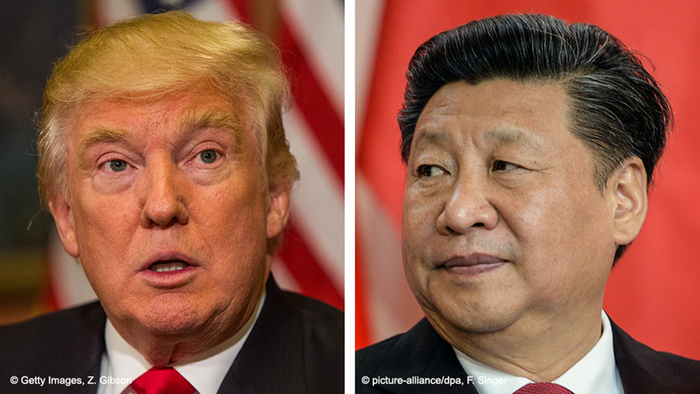 Bildkombo Donald Trump Xi Jinping