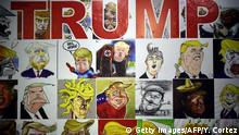 Mexiko Karikaturen von Donald Trump
