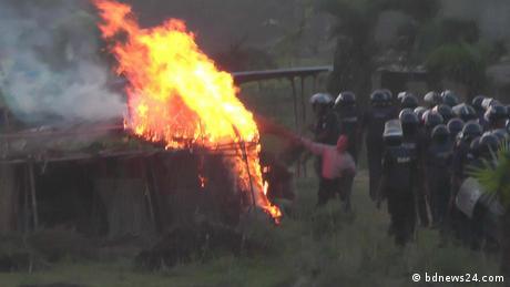 Bangladesch Ausschreitungen & Gewalt - Santal-Volk (bdnews24.com)