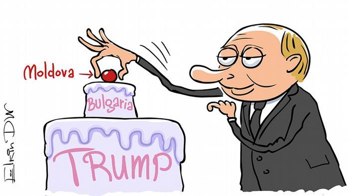 Candidații pro-ruși câștigă alegerile prezidențiale: caricatură din 2016 de Serghei Elkin