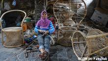 Rattan-Manufaktur in Cirebon, Indonesien