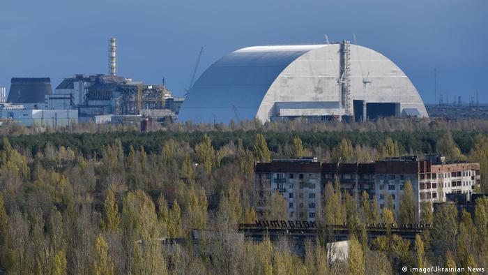 Ukraine neuer Sarkofag für den Atommeiler in Tschernobyl