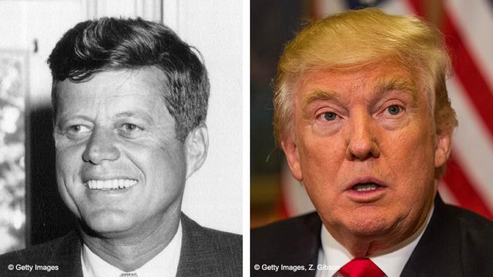 Bildkombo Donald Trump John F Kennedy