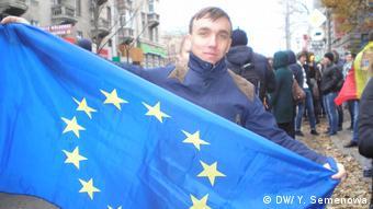 Андрей Барак, участник акции протеста