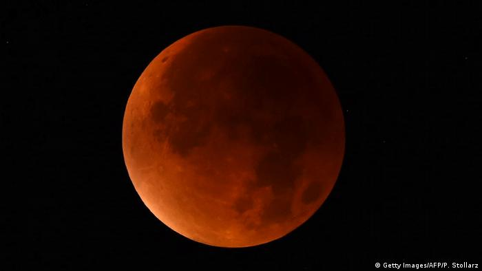 A lunar eclipse over Germany in 2015