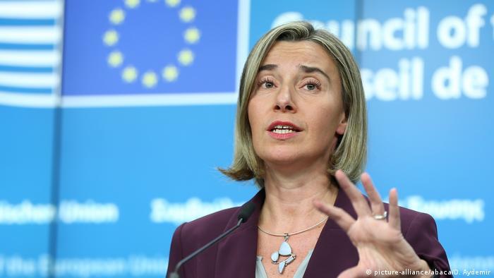 Belgien Brüssel - Federica Mogherini bei Pressekonferenz