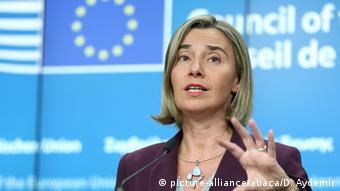 Belgien Brüssel - Federica Mogherini bei Pressekonferenz (picture-alliance/abaca/D. Aydemir)
