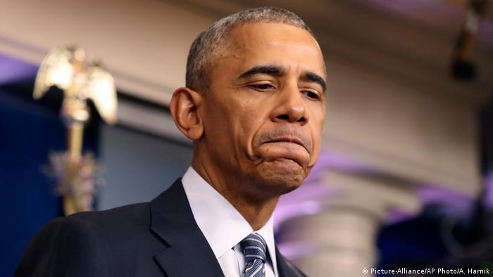 Barack Obama PK (Picture-Alliance/AP Photo/A. Harnik)