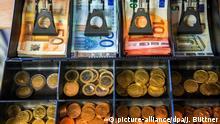 Deutschland Bruttoinlandsprodukt Geldfach einer Ladenkasse