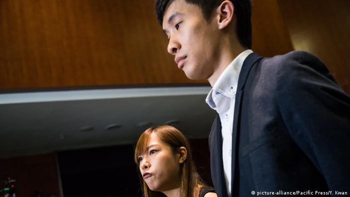 Leung Chung-hang and Yau Wai-ching deliberately misread their oaths