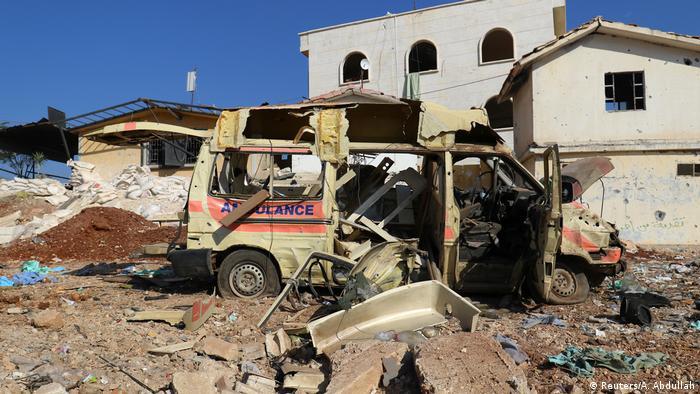 Syrien Luftangriff auf ein Krankenhaus bei Atareb nah Aleppo