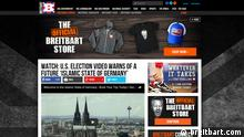 Screenshot der Website breitbart.com