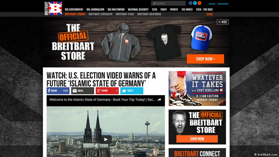 German companies pull ads from Breitbart | News | DW | 07 12