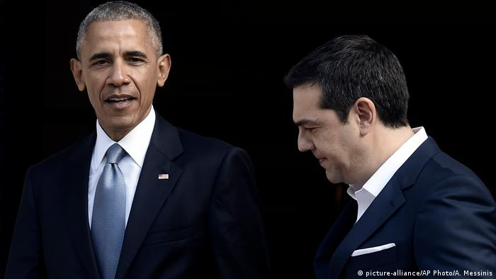 Griechenland Barack Obama und Alexis Tsipras in Athen (picture-alliance/AP Photo/A. Messinis)