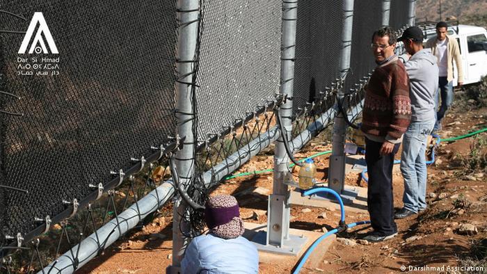 Umweltprojekt-Trinkwasser aus Nebel in Marokko (Darsihmad Assiciation)