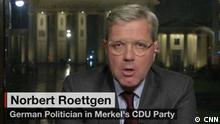 Nobert Röttgen, CDU-Politiker, im CNN-Interview (Screenshot)